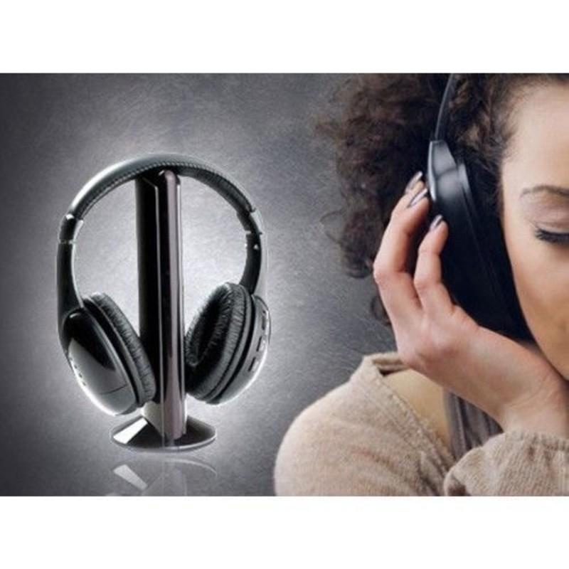 CUFFIA WIRELESS 5 IN 1 SENZA FILI CON MICROFONO E RADIO FM BABY MONITOR 0abe84f9f1fe