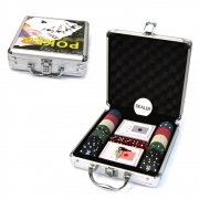 SET DA POKER 100 FICHES CARTE DA GIOCO DADI GIUOCO CHIPS BLACK JACK TEXAS HOLDEM
