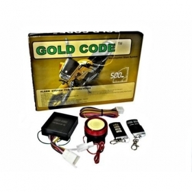 KIT ANTIFURTO UNIVERSALE MOTO SCOOTER SIRENA 125 DB ALLARME ANTI FURTO CODE GOLD